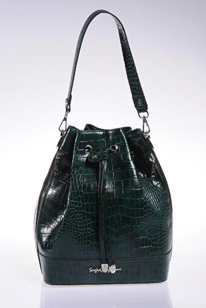 Sergio Giorgianni Luxury Sg1104 Yeşil Kadın Omuz Çantası