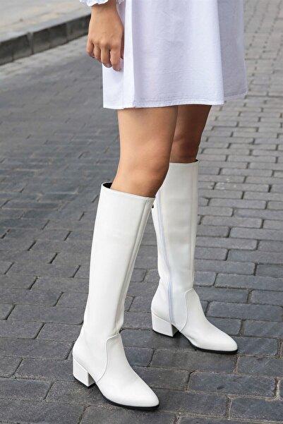 Mio Gusto Kadın Beyaz Lidya Çizme