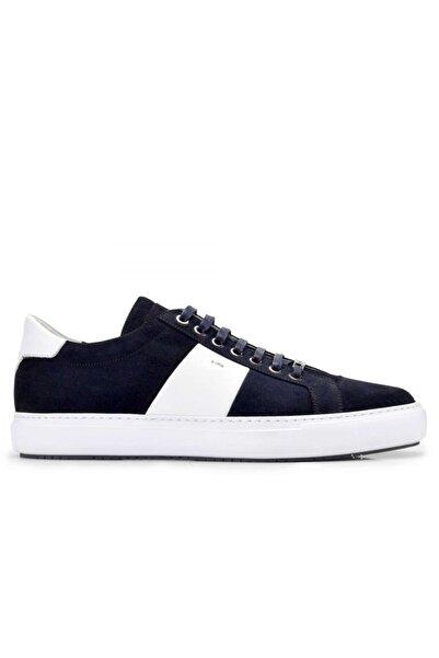 Nevzat Onay Hakiki Deri Lacivert Sneaker Erkek Ayakkabı -10859-