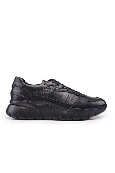 Nevzat Onay Hakiki Deri Siyah Sneaker Erkek Ayakkabı -11008-