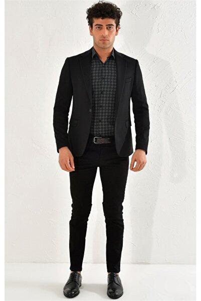 Efor C 560 Slim Fit Siyah Spor Ceket