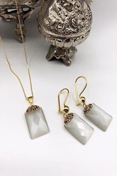 Dr. Stone Dr Stone Harem Koleksiyonu Kedigözü Taşı El Yapımı 925 Ayar Gümüş Set Gdr9