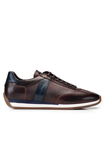 Nevzat Onay Hakiki Deri Kahverengi Sneaker Erkek Ayakkabı -11438-