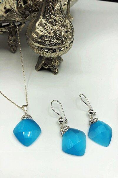 Dr. Stone Dr Stone Harem Koleksiyonu Kedigözü Taşı El Yapımı 925 Ayar Gümüş Set Gdr11