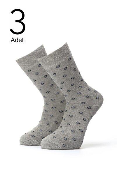 ORBİS 3'lü Erkek Yuvarlak Desenli Çorap 4416-a3