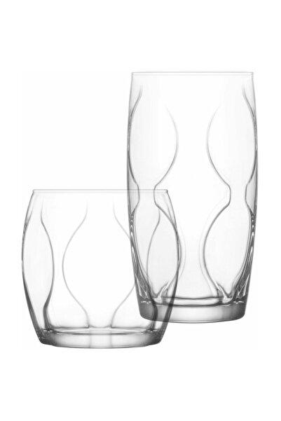 LAV Lena Su Takımı - Su Bardak - Su Meşrubat Bardağı 12 Li Set