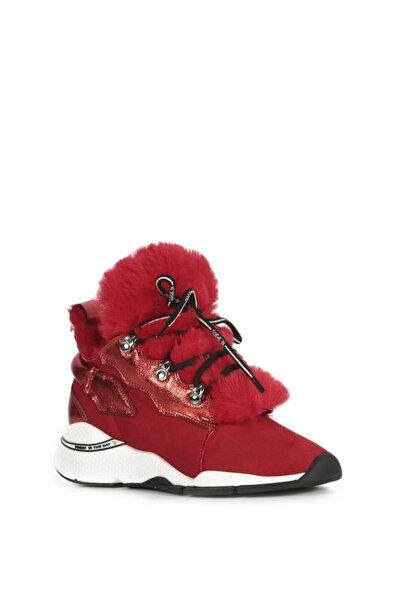 İLVİ Ayçin Bayan Spor Ayakkabı Kırmızı Süet