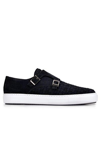 Nevzat Onay Hakiki Deri Lacivert Sneaker Erkek Ayakkabı -10760-