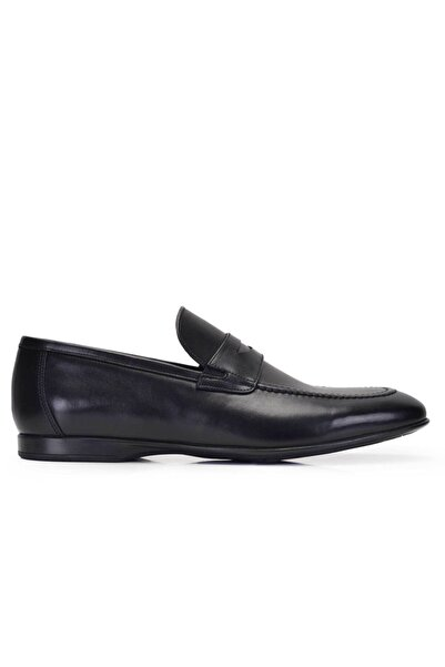 Nevzat Onay Hakiki Deri Siyah Günlük Loafer Yazlık Erkek Ayakkabı -11563-