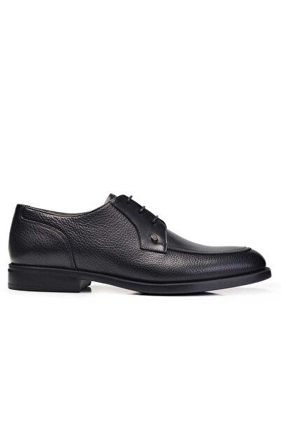 Nevzat Onay Hakiki Deri Siyah Günlük Bağcıklı Erkek Ayakkabı -11286-
