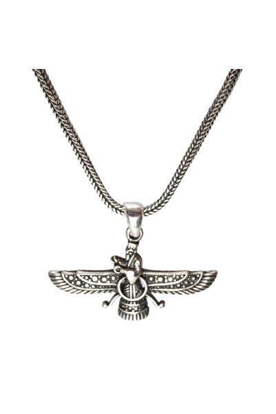 OSMANLI GÜMÜŞ Ahura Mazda Erkek Gümüş Kolye Zincir Küçük Boy