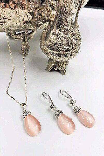 Dr. Stone Dr Stone Harem Koleksiyonu Kedigözü Taşı El Yapımı 925 Ayar Gümüş Set Gdr19