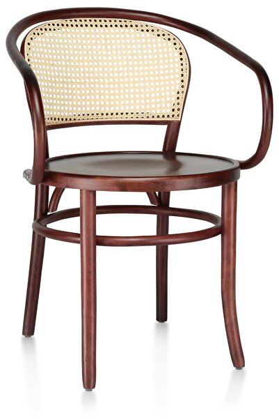 Albanis Thonet No:305 Ahşap Hazeranlı Kolçaklı Sandalye
