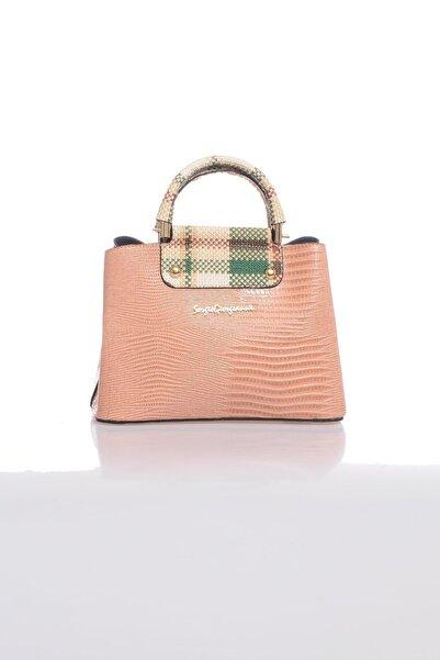 Sergio Giorgianni Luxury Sg0716 Pudra Kadın Omuz Çantası