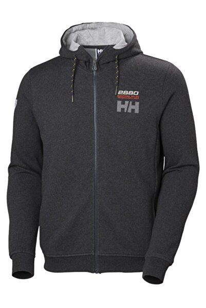 Helly Hansen Club Fz Hoodie Gri Erkek Fermuarlı Sweat Shirt