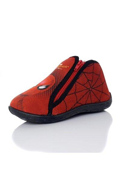 Hakan Çanta Erkek Çocuk Kırmızı Örümcek Adam 90208x Fermuarlı Panduf Ev Kreş Ayakkabısı