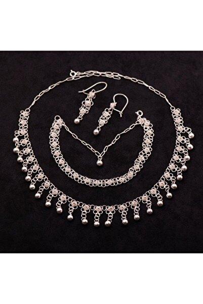 Sümer Telkari Yöresel Akıtma Kişniş Telkari Gümüş Set 1506