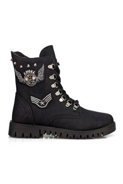 630 Siyah Içi Termal Kürklü Günlük Bayan Bot Ayakkabı