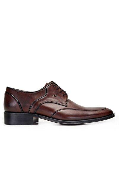 Nevzat Onay Hakiki Deri Kahverengi Klasik Bağcıklı Kösele Erkek Ayakkabı -9272-