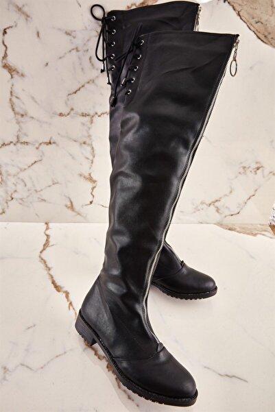 Bambi Siyah Kadın Çizme K05038200