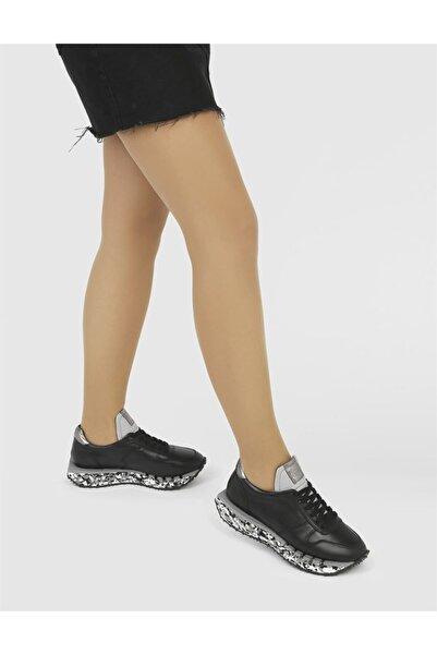 İLVİ Peralta Hakiki Deri Kadın Siyah Spor Ayakkabı