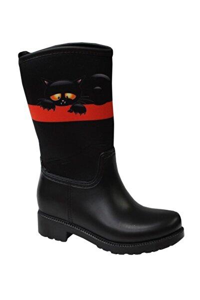 MP M.p 202-3152 Siyah-kırmızı (31-35) Çocuk Kar Yağmur Çizmesi