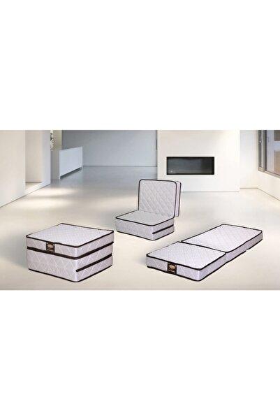 Genova Home Homedius 3 Kat Katlanır Yaylı Yatak Tek Kişilik 90x190