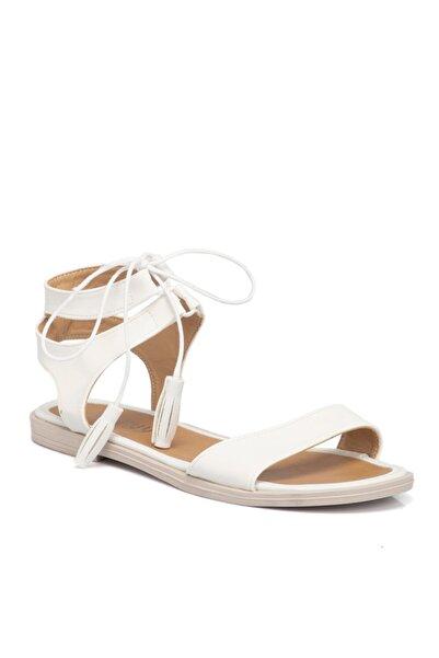 Tergan Beyaz Vegan Kadın Sandalet 210138q0y
