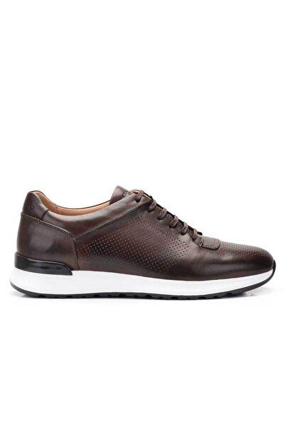 Nevzat Onay Hakiki Deri Kahverengi Sneaker Erkek Ayakkabı -11796-