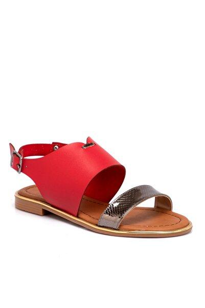 Tergan Kırmızı Vegan Kadın Sandalet 210026d64