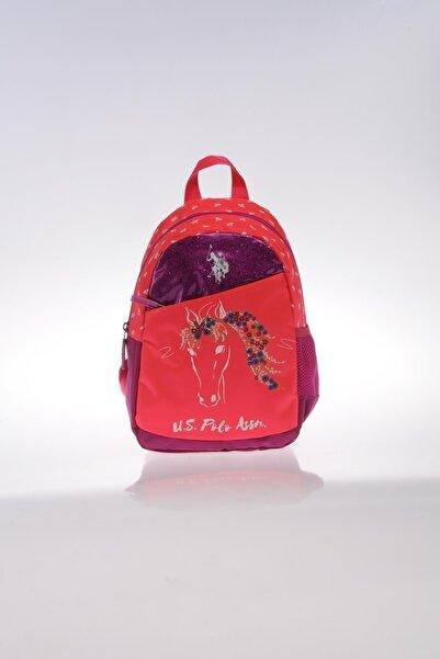 U.S. Polo Assn. Plçan9263 Pembe Kız Çocuk Anaokulu Sırt Çantası