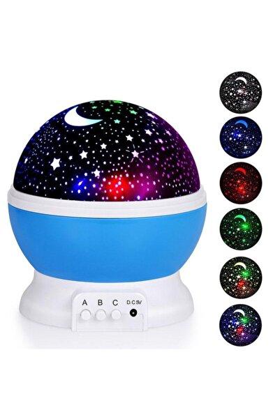 SGE Projektörlü Yansıtmalı Çocuk Bebek Odası Gece Lambası Mavi