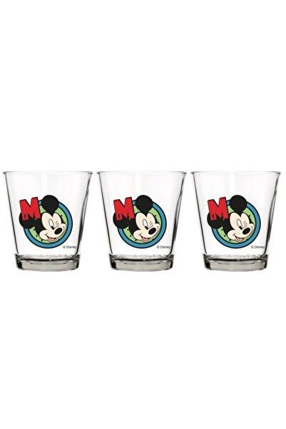 Herevin Üçlü Lisanslı Mickey 280 Cc Cam Bardak