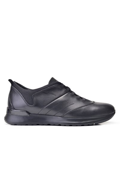 Nevzat Onay Hakiki Deri Siyah Sneaker Erkek Ayakkabı -11893-