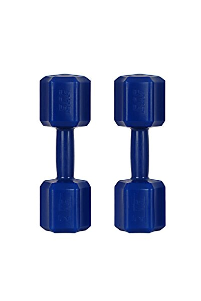 ECG Spor 2 Kg X 2 Adet 4 Kg Dambıl Seti 4 Kg Dumbell Set (Mavi)