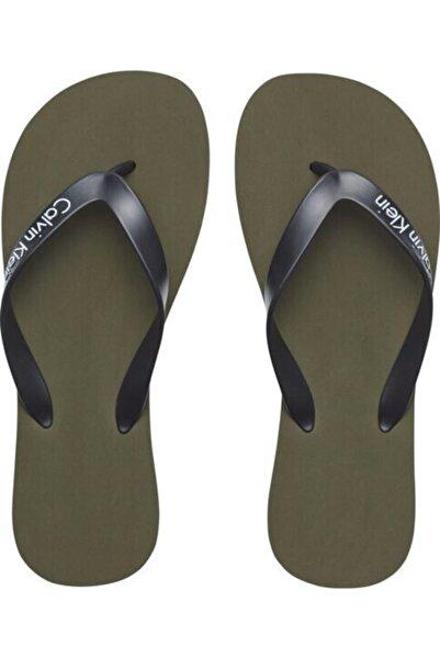 Calvin Klein Ünisex Sandalet - Yeşil