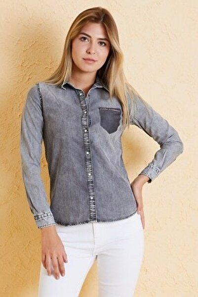 Kadın Slim Fit Gömlek Bg 810-01 (T-y) 01