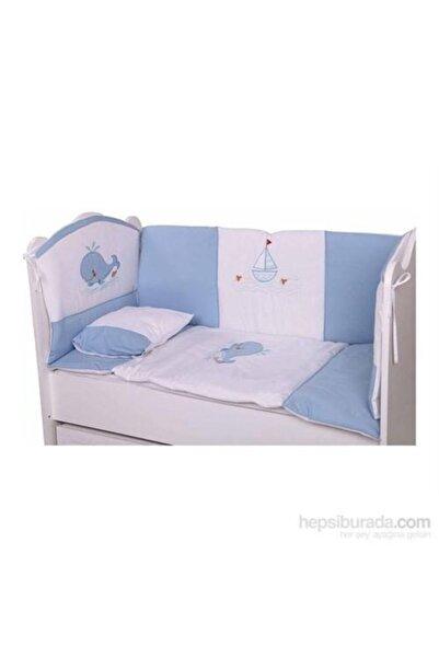BabyHope Bebek Uyku Seti Mavi Balıklı 60*120
