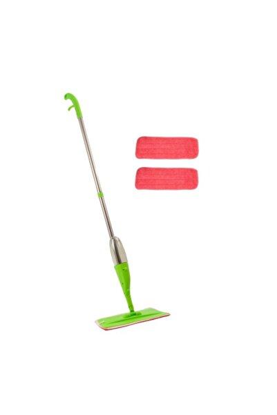 URVE Mikrofiber Sprey Mop 2 Bezli Yeşil