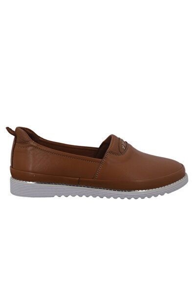 Hobby Divadonna Taba Deri Günlük Kadın Ayakkabı 8672