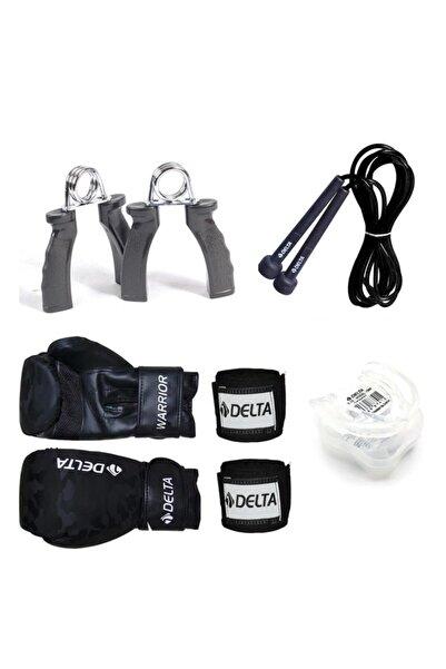 Delta Front Boks Seti (Boks Eldiveni - El Bandajı - Atlama Ipi - Dişlik - El Yayı)
