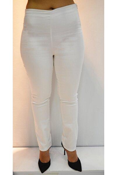 zeynep Beyaz Gabardin Pantolon