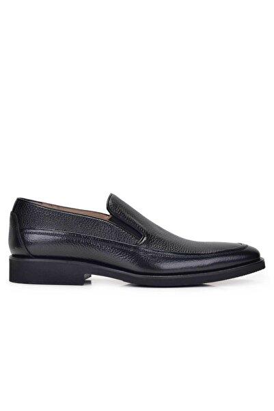 Nevzat Onay Hakiki Deri Siyah Günlük Loafer Erkek Ayakkabı -7606-