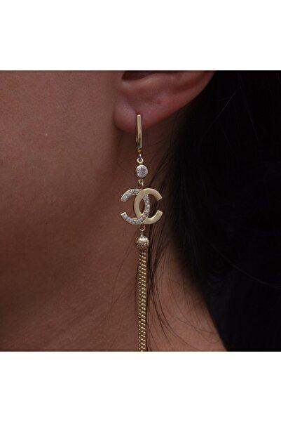 Goza Jewellery Chanel Taşlı Küpe