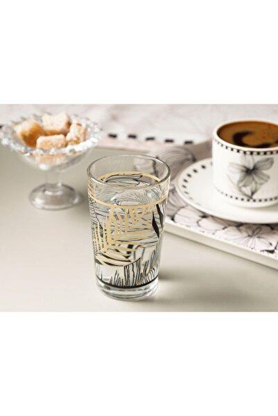 English Home Maylin Cam 6'lı Kahve Yanı Su Bardağı 100 Ml Siyah