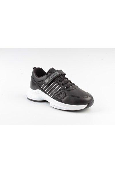 Papion Alisma Çocuk Spor Ayakkabı W135 Siyah/beyaz