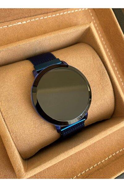 Gold Time Lacivert Hasır Mıknatıslı Kordon Dokunmatik Ekran Erkek Kol Saati
