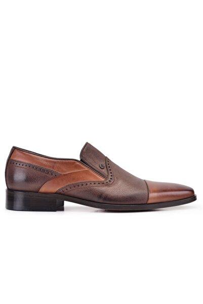 Nevzat Onay Hakiki Deri Taba Klasik Loafer Kösele Erkek Ayakkabı -9102-