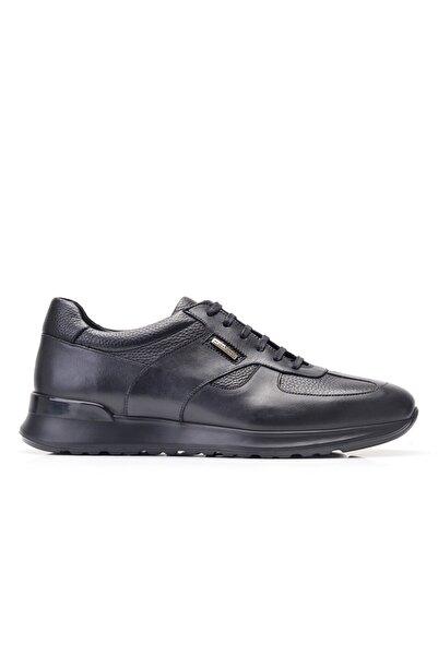 Nevzat Onay Hakiki Deri Siyah Sneaker Erkek Ayakkabı -11844-