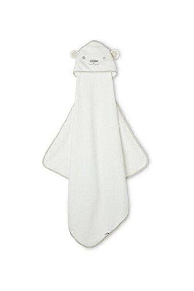 MOTHERCARE Beyaz Ayıcık Bebek Kundak Havlu